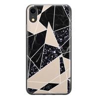 Casimoda iPhone XR siliconen telefoonhoesje - Abstract painted