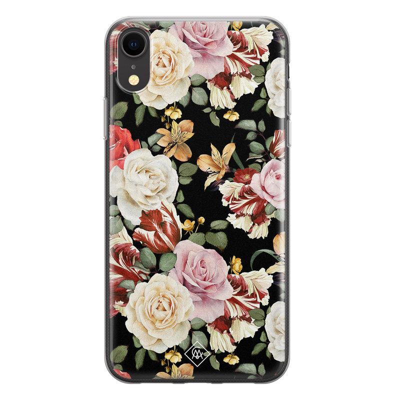 Casimoda iPhone XR siliconen hoesje - Flowerpower