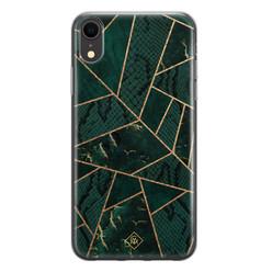 Casimoda iPhone XR siliconen hoesje - Abstract groen
