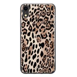 Casimoda iPhone XR siliconen hoesje - Golden wildcat