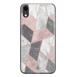 Casimoda iPhone XR siliconen hoesje - Stone grid