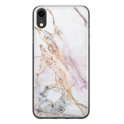 Casimoda iPhone XR siliconen hoesje - Parelmoer marmer