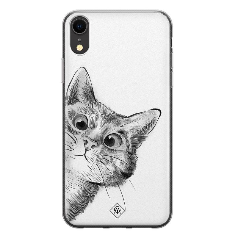 Casimoda iPhone XR siliconen hoesje - Peekaboo