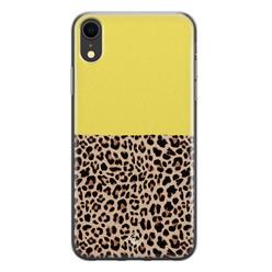 Casimoda iPhone XR siliconen hoesje - Luipaard geel