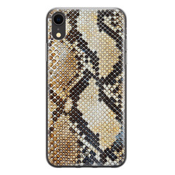 Casimoda iPhone XR siliconen hoesje - Golden snake