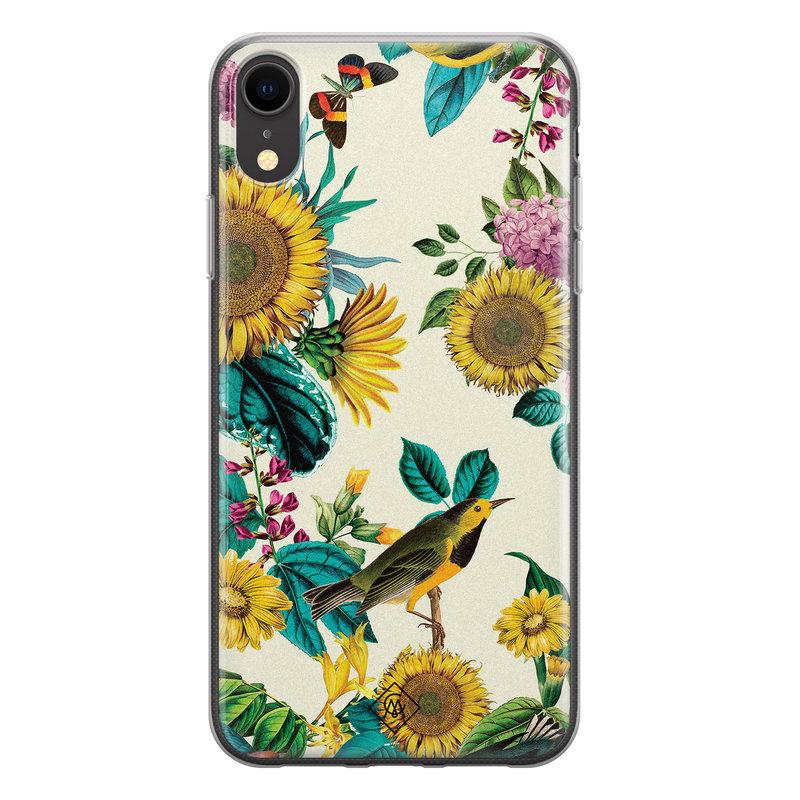 Casimoda iPhone XR siliconen hoesje - Sunflowers