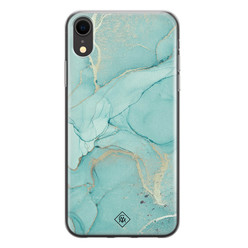 Casimoda iPhone XR siliconen hoesje - Touch of mint