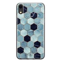 Casimoda iPhone XR siliconen hoesje - Blue cubes