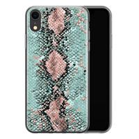 Casimoda iPhone XR siliconen hoesje - Snake pastel
