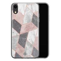 Casimoda iPhone XR siliconen telefoonhoesje - Stone grid