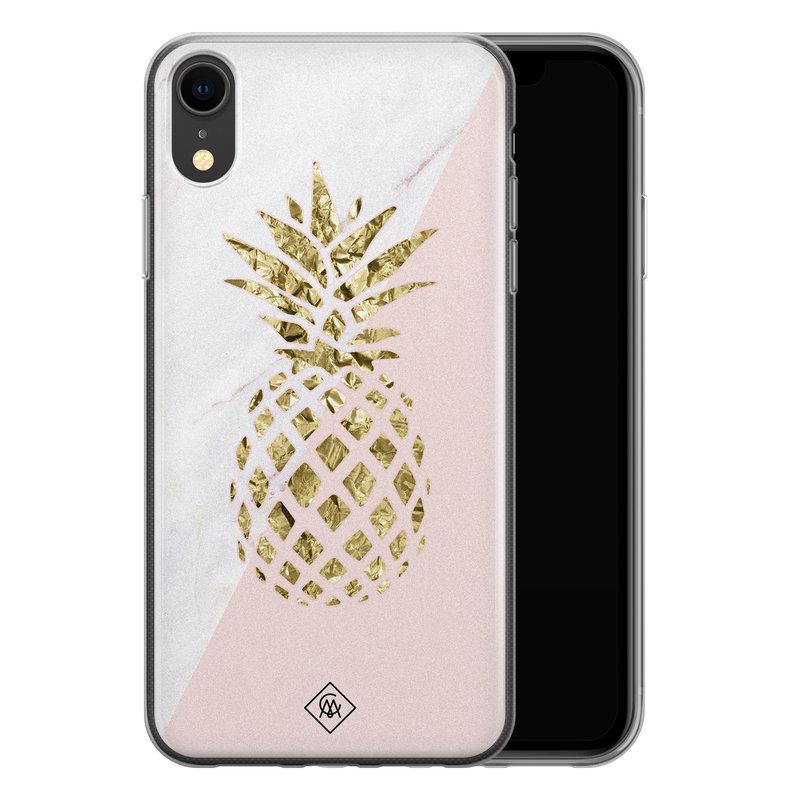 Casimoda iPhone XR siliconen hoesje - Ananas