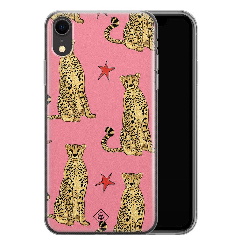 Casimoda iPhone XR siliconen hoesje - The pink leopard