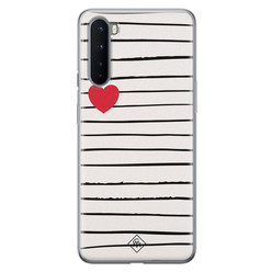 Casimoda OnePlus Nord siliconen hoesje - Heart queen