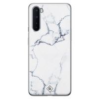 Casimoda OnePlus Nord siliconen hoesje - Marmer grijs