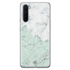 Casimoda OnePlus Nord siliconen hoesje - Marmer mint mix