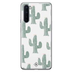 Casimoda OnePlus Nord siliconen hoesje - Cactus print