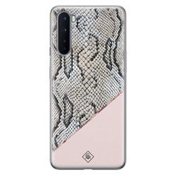 Casimoda OnePlus Nord siliconen hoesje - Snake print