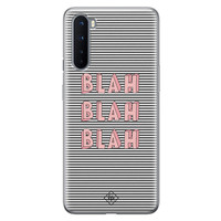 Casimoda OnePlus Nord siliconen telefoonhoesje - Blah blah blah