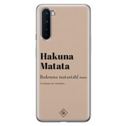 Casimoda OnePlus Nord siliconen hoesje - Hakuna matata