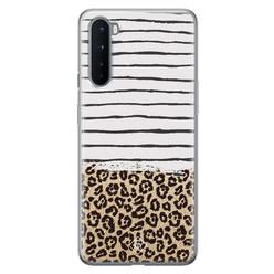 Casimoda OnePlus Nord siliconen hoesje - Leopard lines