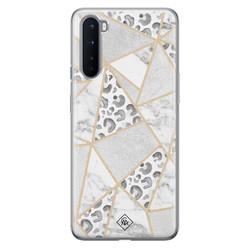Casimoda OnePlus Nord siliconen hoesje - Stone & leopard print