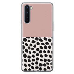 Casimoda OnePlus Nord siliconen hoesje - Pink dots