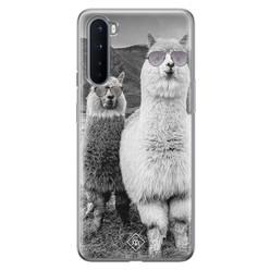 Casimoda OnePlus Nord siliconen hoesje - Llama hipster