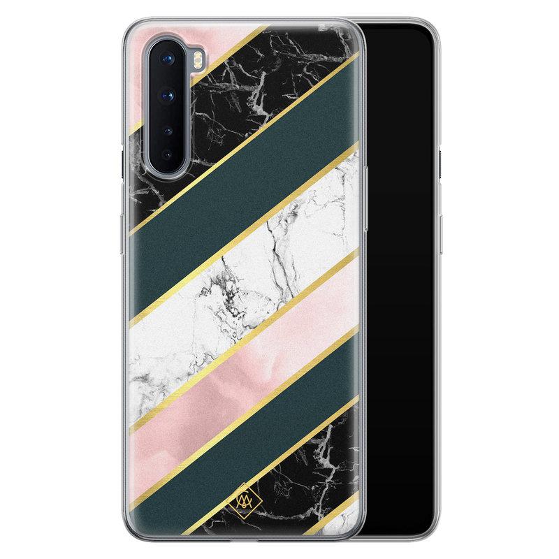 Casimoda OnePlus Nord siliconen hoesje - Marble stripes