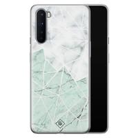 Casimoda OnePlus Nord siliconen telefoonhoesje - Marmer mint mix