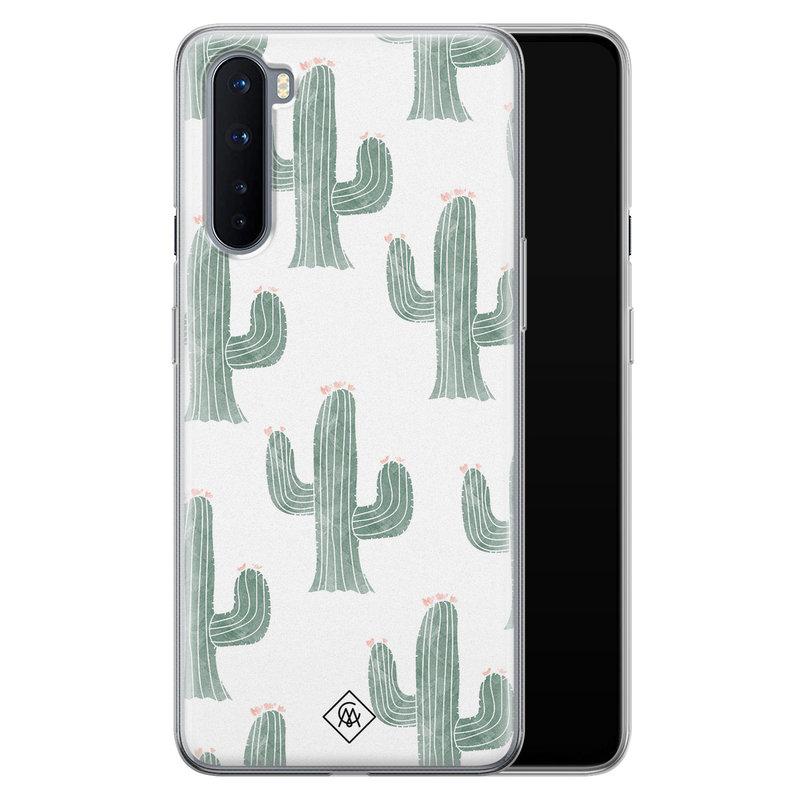 Casimoda OnePlus Nord siliconen telefoonhoesje - Cactus print
