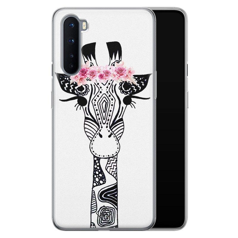 Casimoda OnePlus Nord siliconen telefoonhoesje - Giraffe