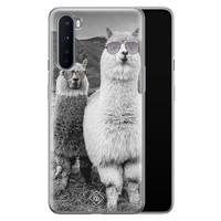 Casimoda OnePlus Nord siliconen telefoonhoesje - Llama hipster