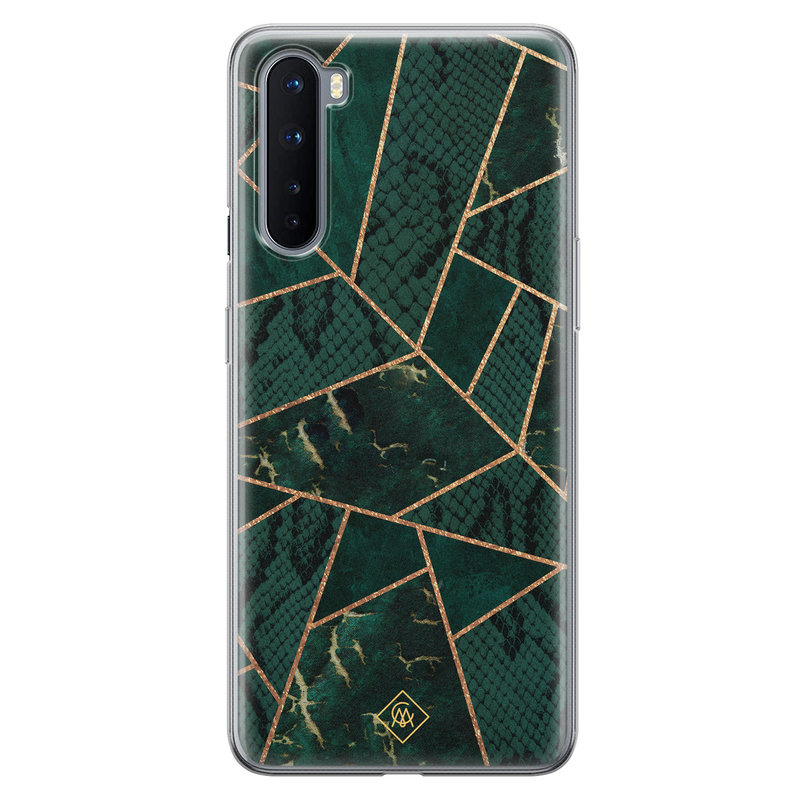 Casimoda OnePlus Nord siliconen hoesje - Abstract groen