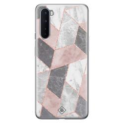 Casimoda OnePlus Nord siliconen hoesje - Stone grid