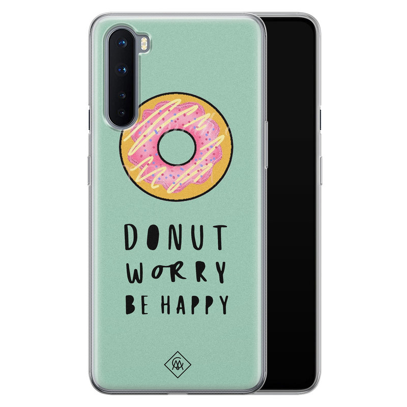 Casimoda OnePlus Nord siliconen hoesje - Donut worry