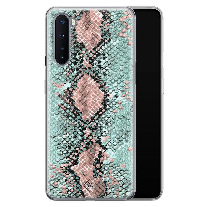 Casimoda OnePlus Nord siliconen hoesje - Snake pastel