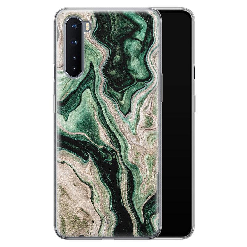 Casimoda OnePlus Nord siliconen hoesje - Green waves