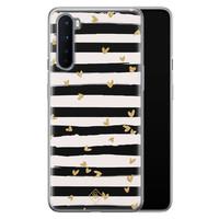 Casimoda OnePlus Nord siliconen telefoonhoesje - Hart streepjes