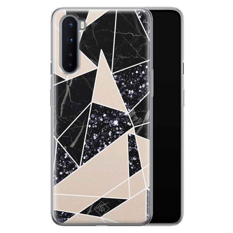 Casimoda OnePlus Nord siliconen telefoonhoesje - Abstract painted