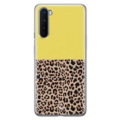 Casimoda OnePlus Nord siliconen hoesje - Luipaard geel