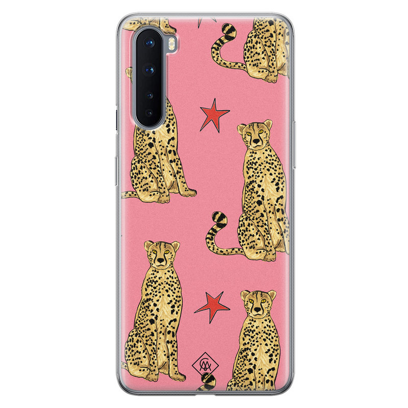 Casimoda OnePlus Nord siliconen hoesje - The pink leopard