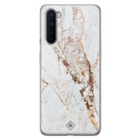 Casimoda OnePlus Nord siliconen hoesje - Marmer goud