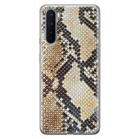Casimoda OnePlus Nord siliconen hoesje - Golden snake