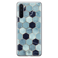 Casimoda OnePlus Nord siliconen hoesje - Blue cubes