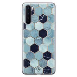Casimoda OnePlus Nord siliconen hoesje - Blue cubes