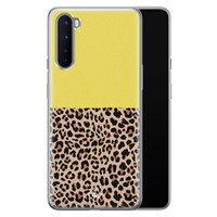 Casimoda OnePlus Nord siliconen hoesjje - Luipaard geel