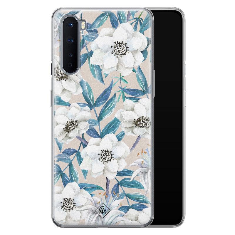 Casimoda OnePlus Nord siliconen telefoonhoesje - Touch of flowers