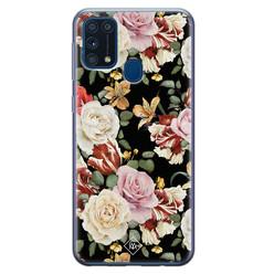 Casimoda Samsung Galaxy M31 siliconen hoesje - Flowerpower