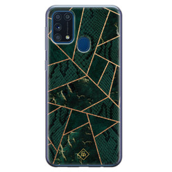 Casimoda Samsung Galaxy M31 siliconen hoesje - Abstract groen