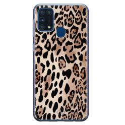 Casimoda Samsung Galaxy M31 siliconen hoesje - Golden wildcat